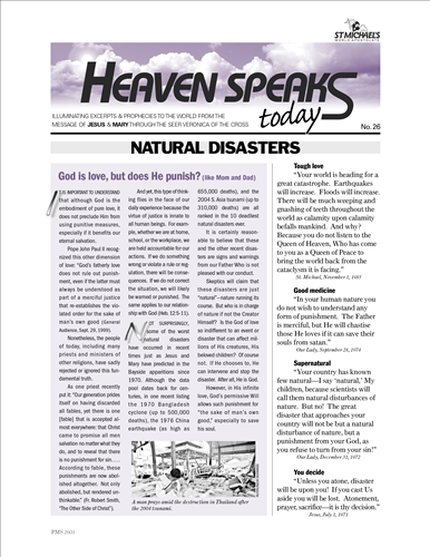 Natural Disasters, HST 26